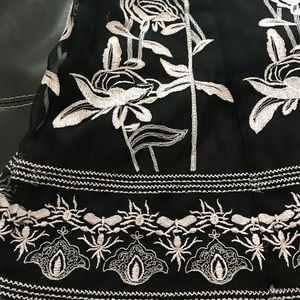 Peter Nygard Skirts - Women's black and white skirt with flower pattern